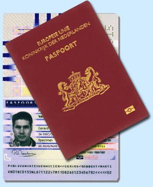 identificeren met verlopen paspoort