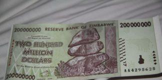 Zimbabwaans 200 miljoen dollar biljet