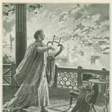 Nero speelt de viool terwijl Rome brand