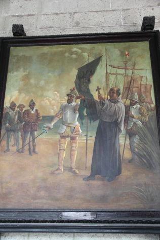 Met kostuum zwaard en symbool