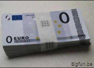 nul euro biljet
