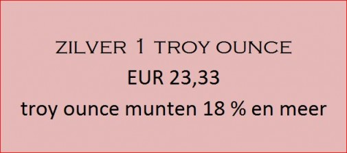 troy ounce zilver