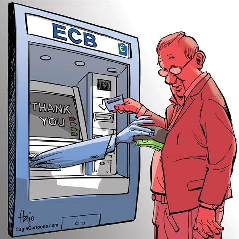 ECB takes money