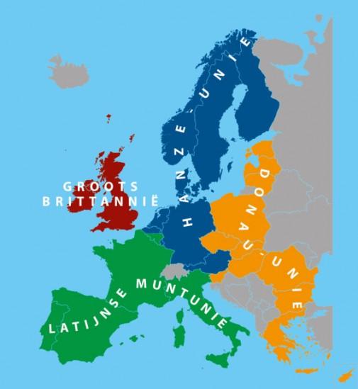 Europa_muntuniekaart