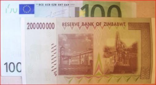 euro vs zimbabwe
