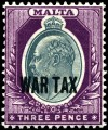 Stamp_Malta_1918_3p_war_tax
