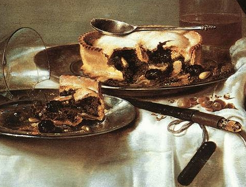 Heda,_Willem_Claeszoon_-_Breakfast_Table_with_Blackberry_Pie_-_detail_pie