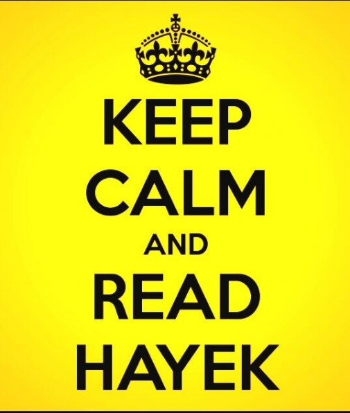keep calm and read hayek