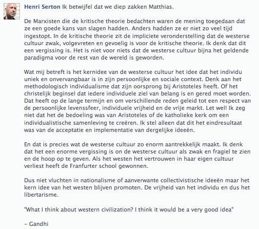 comment Henri op FB 22 okt 2013