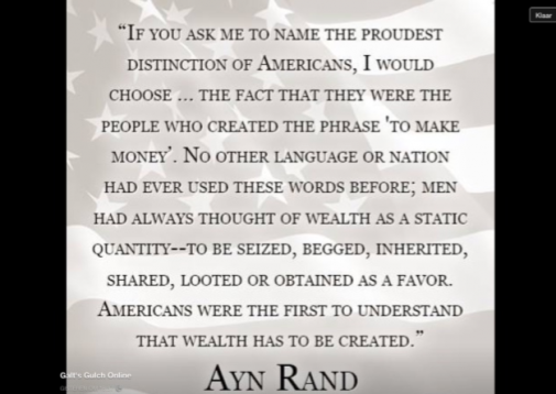 ayn rand make money