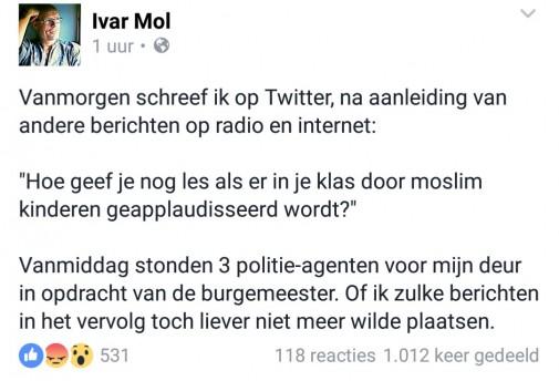 Tweet van Ivar Mol