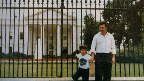 Pablo Escobar bij het Witte Huis.