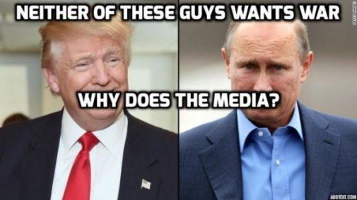 Geen van beiden willen oorlog