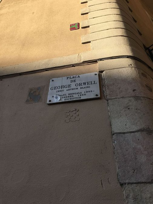 Placa_de_George_Orwell_in_Barcelona_4